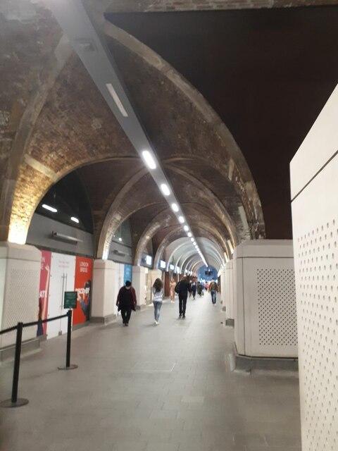 Undercroft of London Bridge station