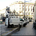 ST3188 : Anthony A. Davies white van, High Street, Newport by Jaggery