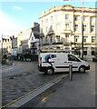 ST3188 : Smallwood white van, High Street, Newport by Jaggery