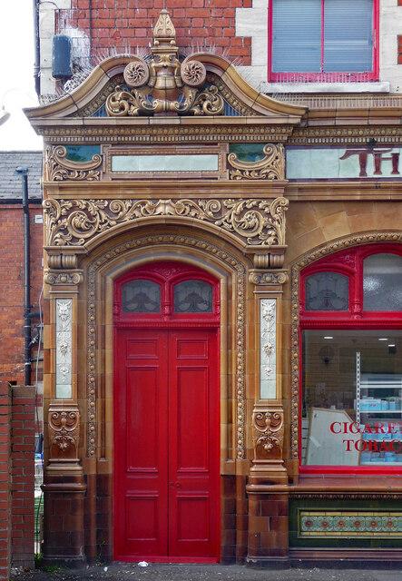 Detail of former pub, Barton Street, Gloucester