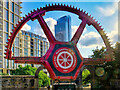 SJ8397 : Grocers' Warehouse Cogwheel and Deansgate South Tower by David Dixon