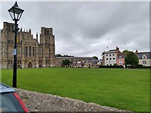ST5545 : Wells Cathedral Green by Kevin Pearson