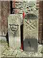 SX4655 : Old Boundary Markers in back Wilton Street, Plymouth by T Jenkinson