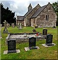 SO4101 : Church and churchyard, Gwernesney, Monmouthshire by Jaggery