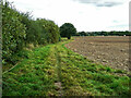 SE3620 : Footpath to Green Lane, along the edge of a ploughed field by Humphrey Bolton