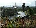 NS4772 : Erskine Bridge and slip road by Richard Sutcliffe