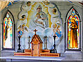 HY4800 : Madonna and Child above the Altar at the Italian Chapel by David Dixon
