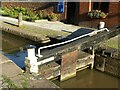 SP3684 : Gate at Hawkesbury Junction lock, Oxford Canal by Alan Murray-Rust
