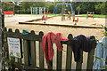 ST5875 : Wet play area, Redland Green by Derek Harper