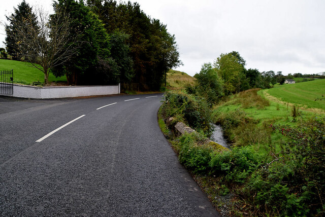 Small bend along Moylagh Road