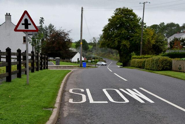 Slow markings along B46 Moylagh Road