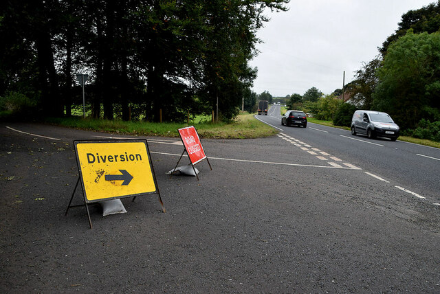 Road diversion along Curr Road, Raw