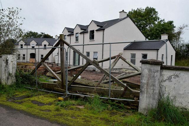 Housing development along Church Road, Raw