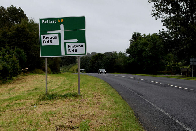 Sign for Belfast