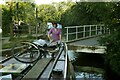 SP7089 : Foxton village swing bridge by Alan Murray-Rust
