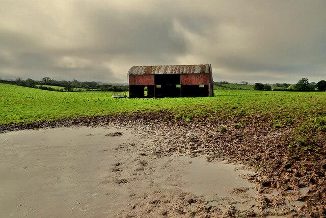 A muddy field, Tonnagh Beg