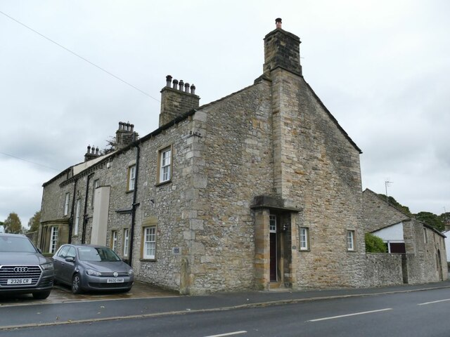 The old vicarage and Taira House, Gargrave
