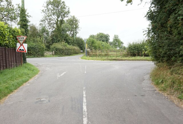 Looking across Cubley Lane to Thurvaston Road