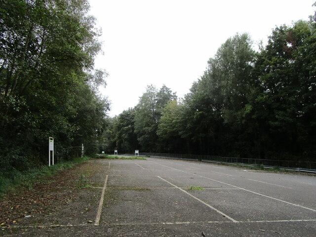 Abandoned car park, Radstock by Jonathan Thacker