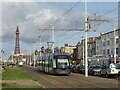 SD3034 : Tram on Blackpool seafront by Malc McDonald