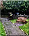 ST3398 : Memorial bench in Christchurch churchyard,  Coed-y-Paen, Monmouthshire by Jaggery