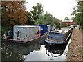 TQ2182 : Portable toilets on barge, Paddington Branch canal by David Hawgood