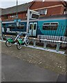 ST1871 : Bicycles for hire outside Penarth railway station by Jaggery