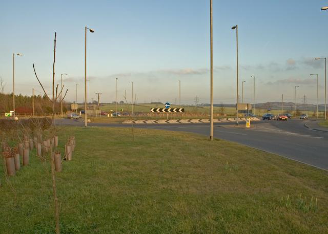 Roundabout on the A6