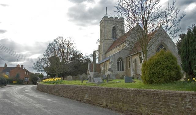 Wavendon Church and Walton Road.