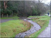 SO4494 : Ford at Carding Mill Valley, Long Mynd by Andy and Hilary
