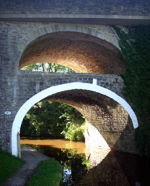East Marton double-arched bridge
