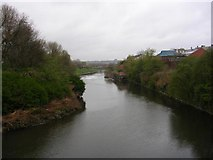 SJ8298 : River Irwell at Salford Crescent by Keith Williamson