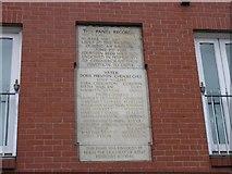 SJ8298 : Memorial  Plaque by Keith Williamson