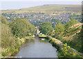SE0411 : Huddersfield Canal at Marsden by Martin Clark