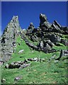 V2460 : Looking NE from Christ's Saddle on Skellig Michael. by mym