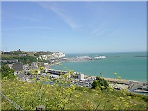 TR3140 : View across the Marinas from Western Heights, Dover by Penny Mayes