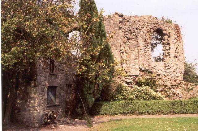 Ruins of Bishop's Palace. Llandaff, Cardiff