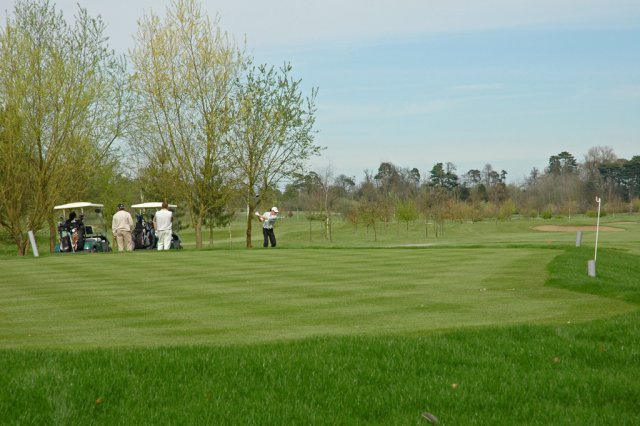 Golfers on Mentmore Golf course.