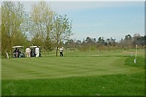 SP9018 : Golfers on Mentmore Golf course. by Peter Roberts