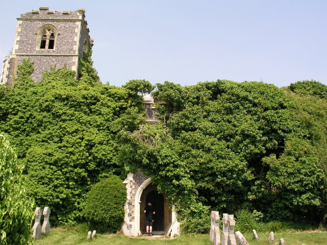 Ruined church in grounds of Lofts Hall