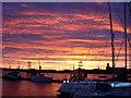 SU6200 : Sunrise Over Portsmouth Dockyard by Mark Pepall