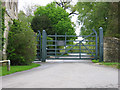SP4215 : Combe Lodge Gate by neil hanson