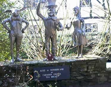 Statues at Trago Mills