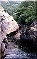 NN9162 : The Soldier's Leap at Killiecrankie by Anne Burgess