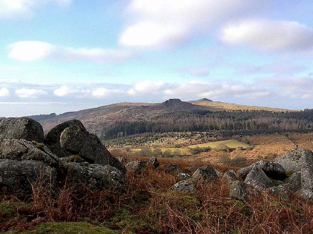 View from Down Tor towards Sharpitor