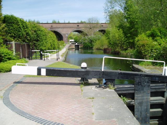 Park Head locks and viaduct