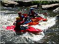 SD7912 : Kayakers at the Burrs Activity Centre by Martin Stockdale