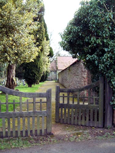 The pathway to St Mary's Church, Huntington Lane, Hereford