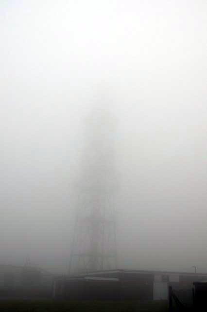 Radio mast atop Butser Hill