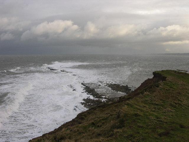 Filey Brigg at high tide